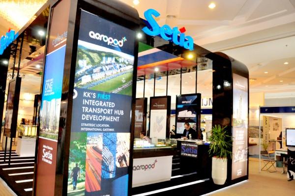 Property Exhibition Booth Design : Homelite development sdn bhd